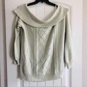 Lane Bryant Sprout Green Cowl Neck Sweater 18/20